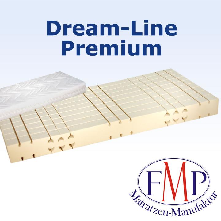 7 Zonen Matratze Dream Line Premium Frottebezug 90x200 H2