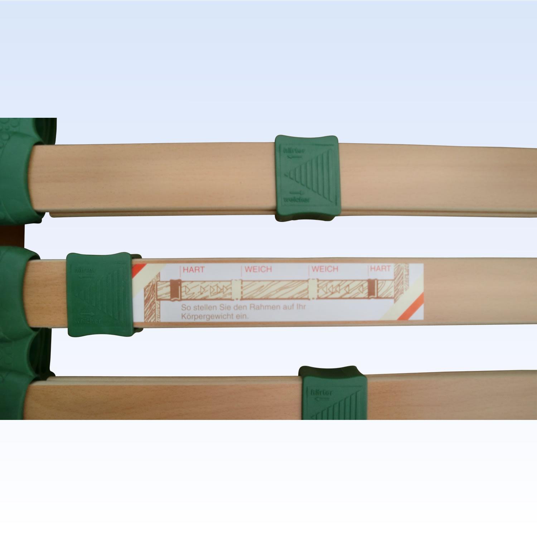 5 zonen lattenrost capri 28 leisten 90x200 cm fmp. Black Bedroom Furniture Sets. Home Design Ideas