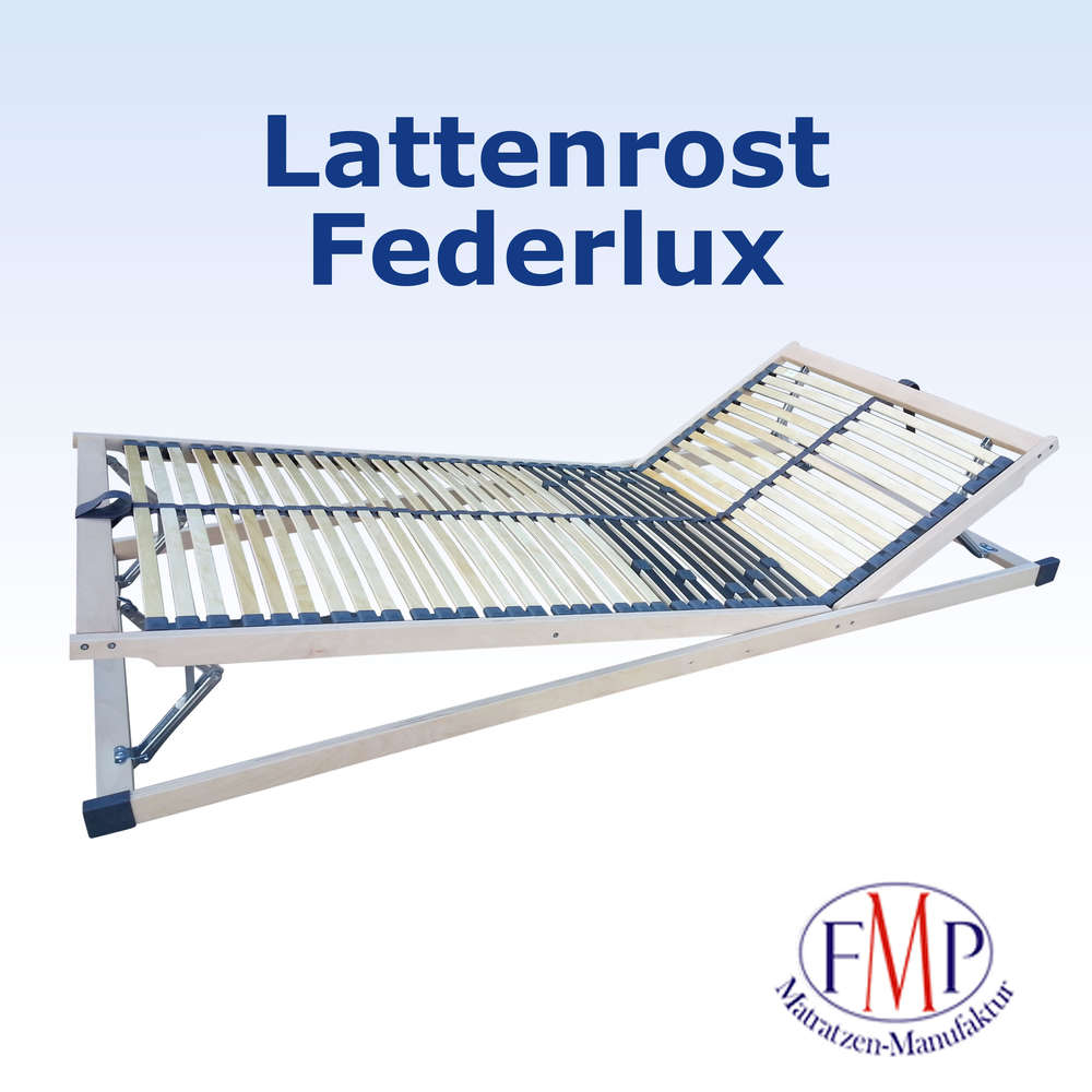 Wunderbar Flacher Lattenrost Ideen Von Federlux Kf Verstellbar 42 Leisten 5 Cm